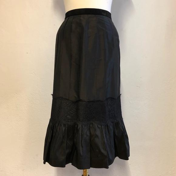 LOFT Dresses & Skirts - Ann Taylor Loft Black Silk Skirt, 6